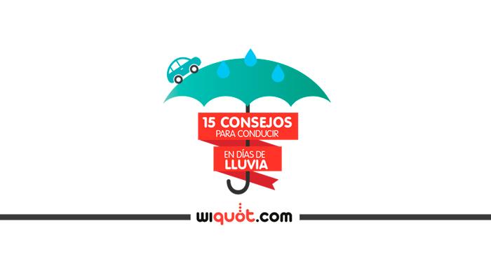 infografía, conducir en dias de lluvia, seguridad, consejos, lluvia, carretera, distancia de frenada, tiempo de reacción, wiquot, miércoles visuales