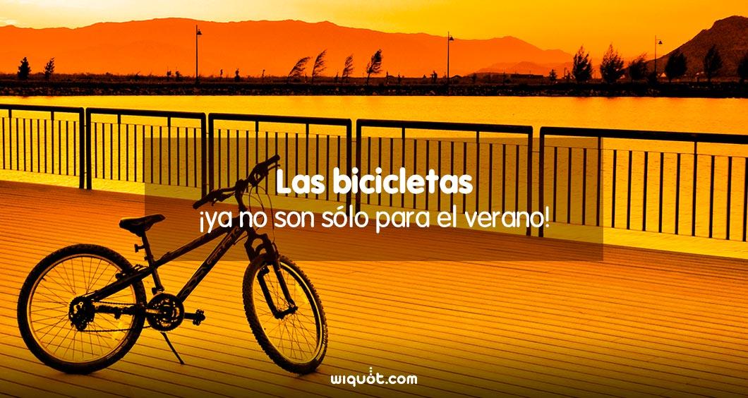 ¡Las bicicletas ya no son sólo para el verano!