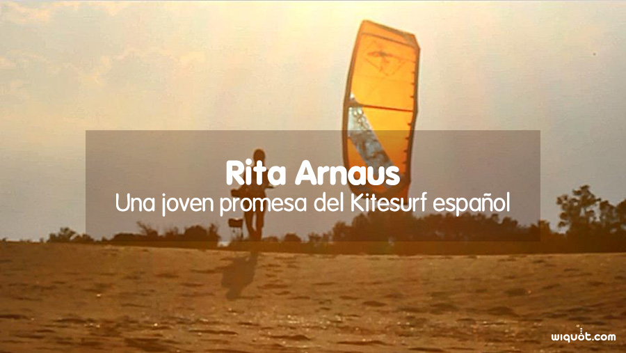 Rita Arnaus, una jóven promesa del Kitesurf español