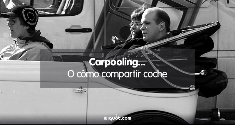Carpooling, compartir, coche