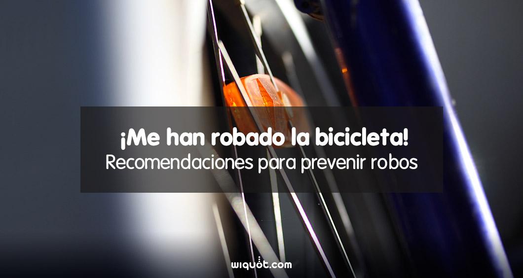 bicicleta, seguridad, robo, consejos, seguro de bicicleta, wiquot,