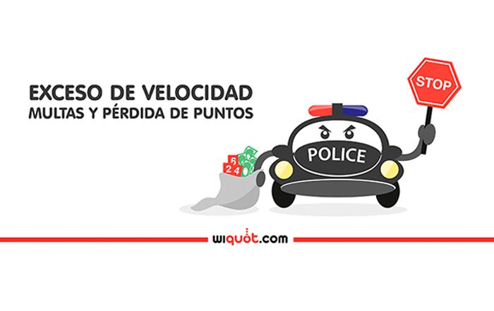 velocidad, exceso, radar, multas, puntos, tráfico, infografia, wiquot