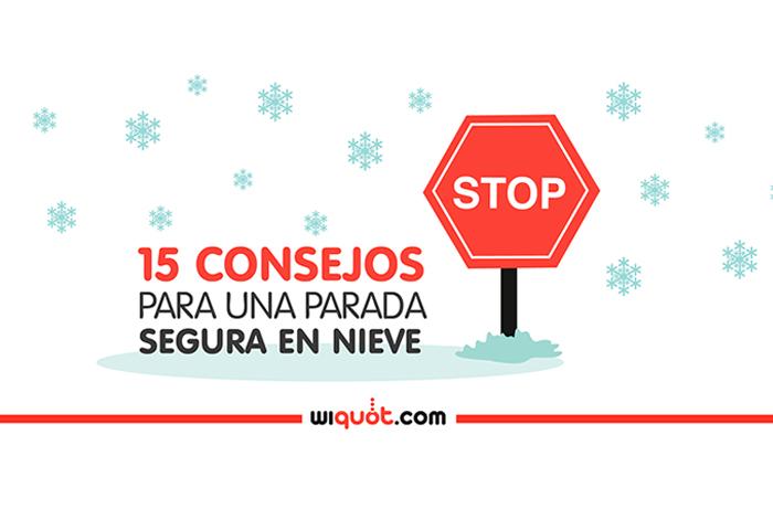 Wiquot, Miércoles Visuales, infografía, coche, consejos, nieve, seguridad vial, carretera