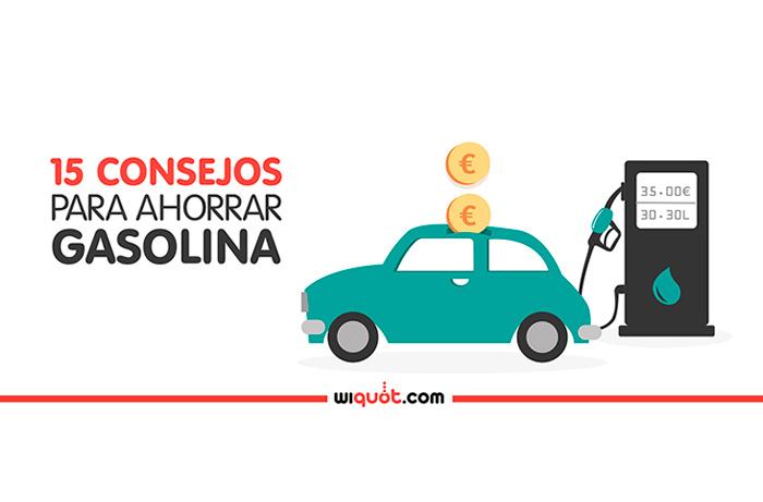 wiquot, ahorro, ahorrar gasolina, combustible, diésel, carburante, repostar, gasolinera, consejos, infografía, miércoles visuales, velocidad, freno, acelerador, motor, coche, vehículo