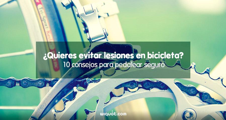 ir en bicicleta, lesiones en bicicleta, consejos para evitar lesiones